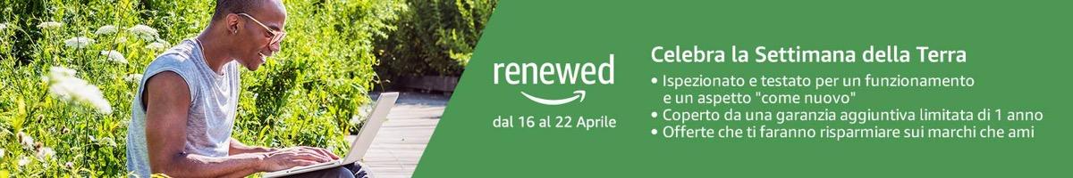 Amazon Renewed, sconti extra sui ricondizionati certificati per la Settimana della Terra