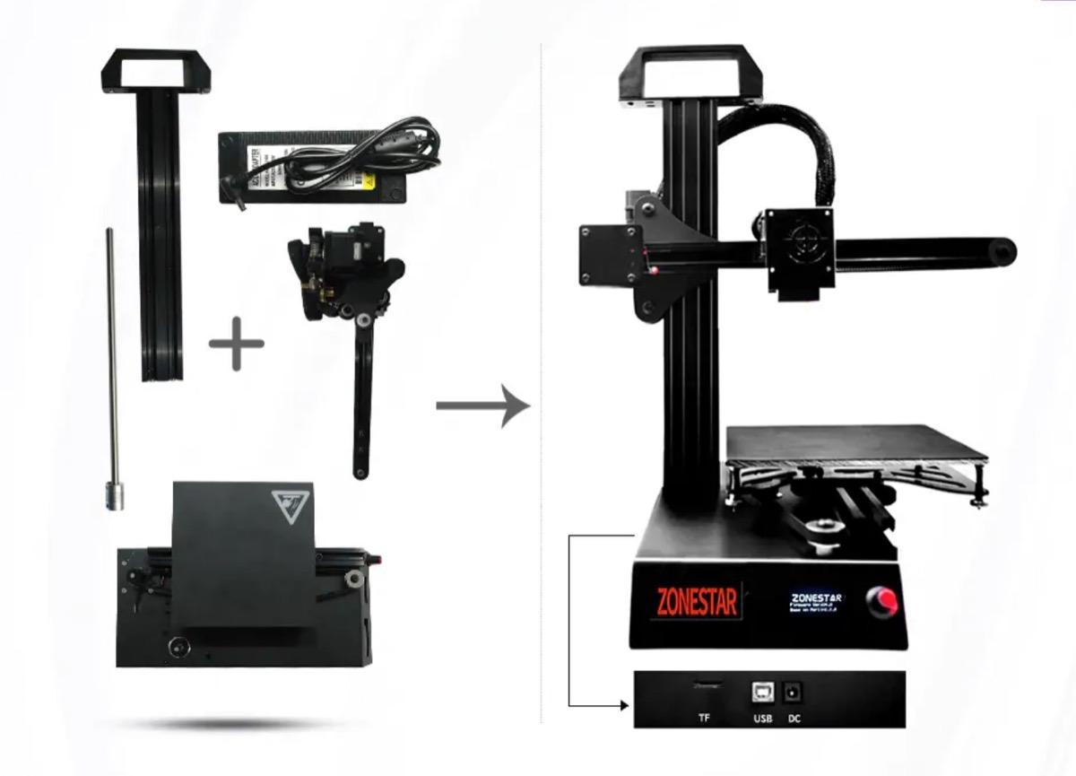 Zonestar Z6, stampante 3D con assemblaggio rapido in offerta a 89,90 euro
