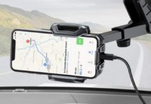 Supporto smartphone in auto con ricarica wireless in offerta a 20,79 euro