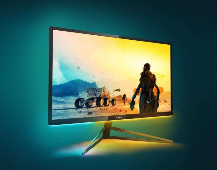 Philips Momentum 326M6VJRMB, il display 4K per gaming con Ambiglow
