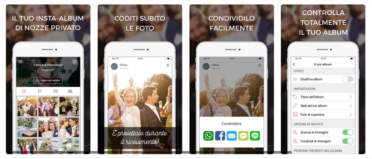 L'app WedShoots racconta il matrimonio con gli scatti degli invitati