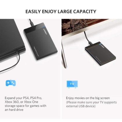 "Ugreen 50743 trasforma HDD e SSD 2.5"" in dischi USB"