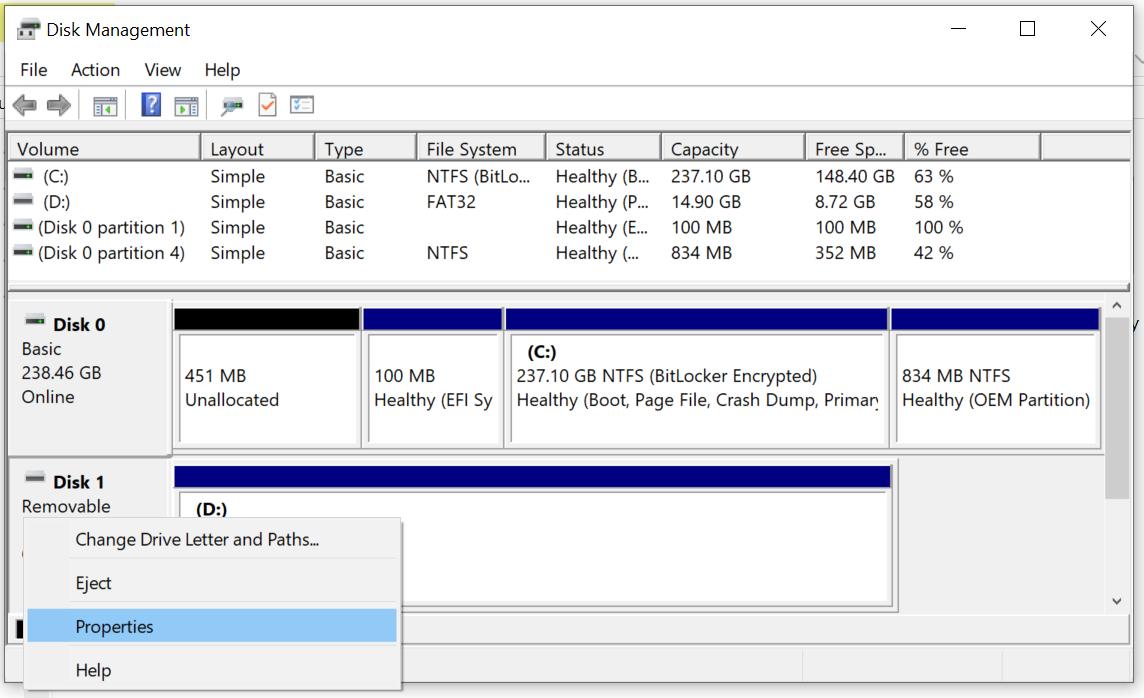 Windows 10 cambia la modalità di esplusione di dischi e chiavette USB