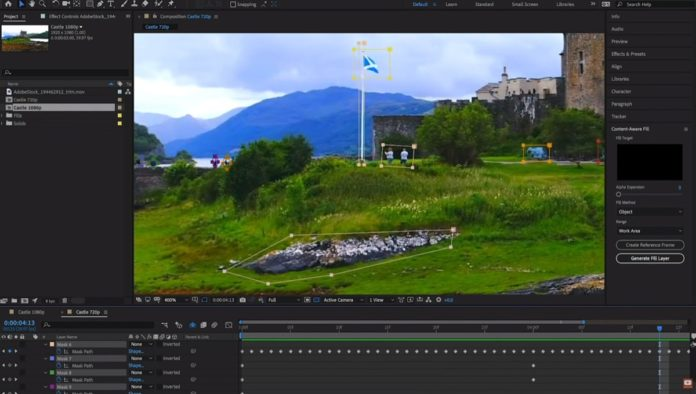 Adobe After Effects CC 2019, è arrivata la gomma magica
