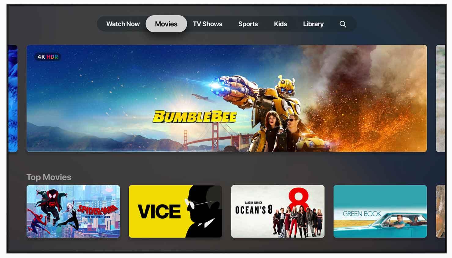 La piattaform Apple TV+ consente di abbonarsi ai propri canali preferiti, scegliendoli tra gli Apple TV Channels, e guardarli nell'app Apple TV.