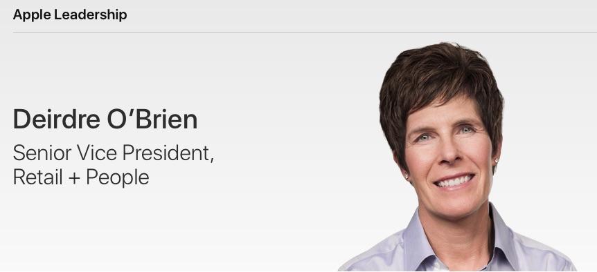Deirdre O'Brien, responsabile retail di Apple, su Instagram condivide foto delle sue visite negli store