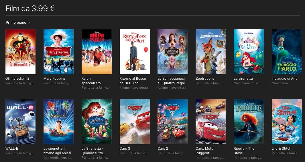 Disney festeggia la Primavera con tanti film a 3,99 euro su iTunes