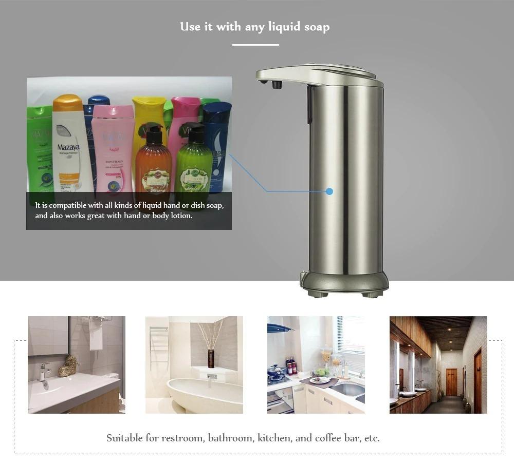 Dispenser automatico di sapone liquido ad infrarossi a soli a 12 euro