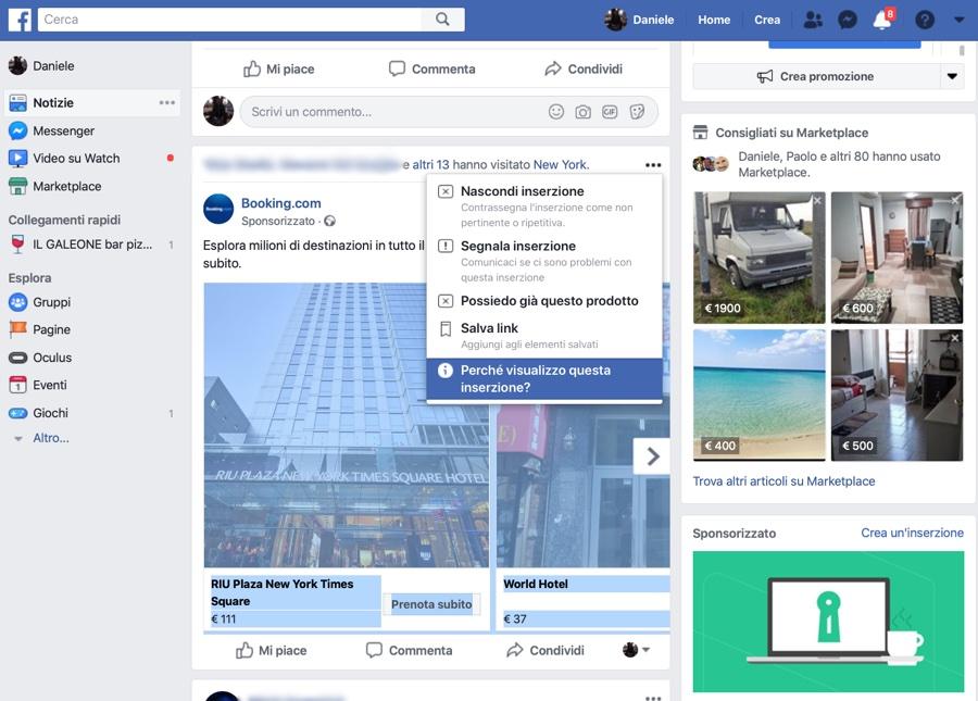 Facebook trema, concede più controllo agli utenti
