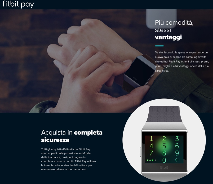 Come funziona il contactless con Fitbit Pay