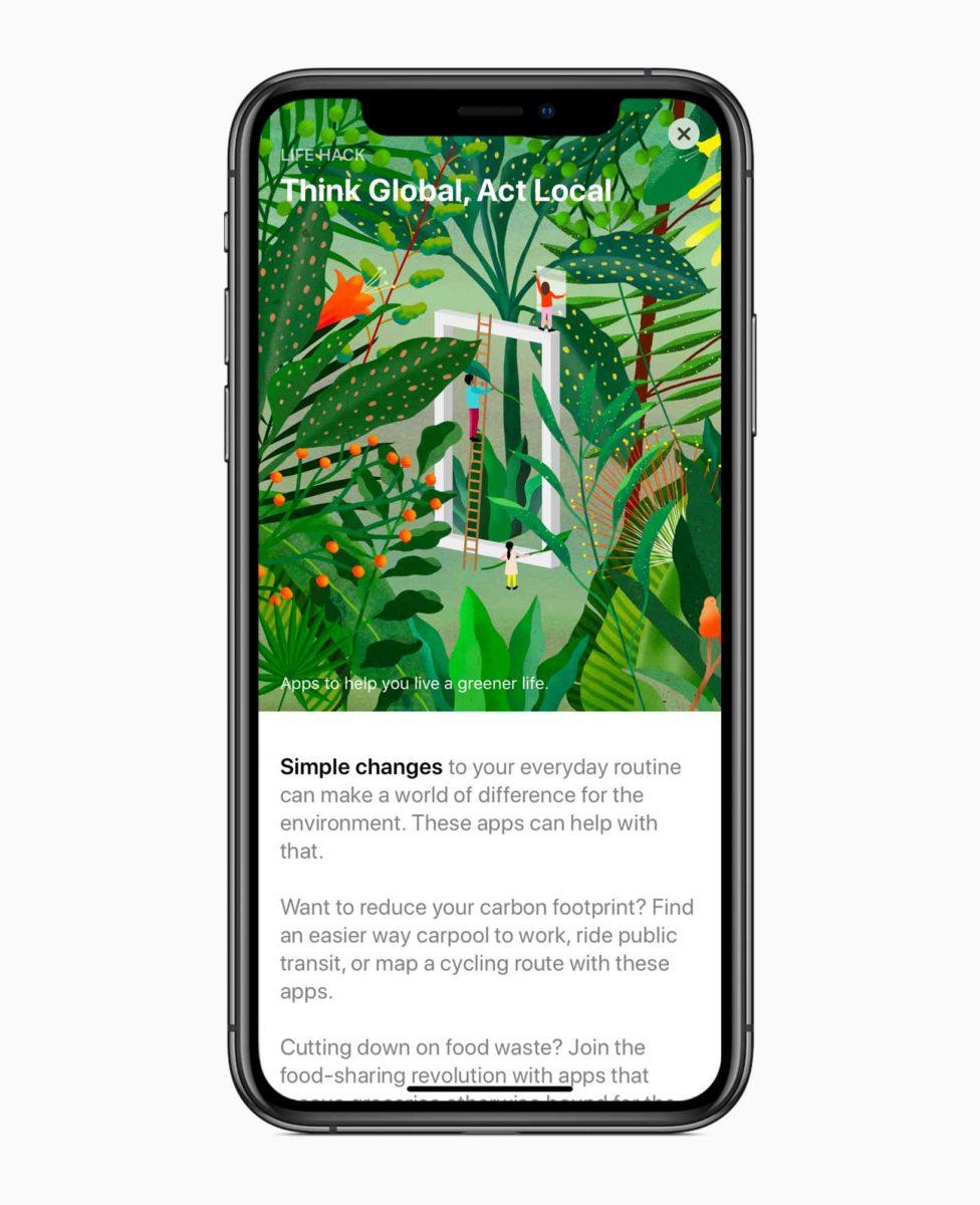 L'App Store sta celebrando la Giornata della Terra con app e giochi che aiutano le persone a rendere omaggio alla Terra e a vivere in maniera sostenibile.