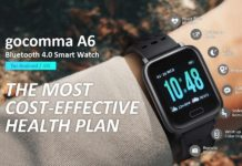 Gocomma A6, smartwatch con cardiofrequenzimetro, pressione sanguigna e livello di ossigeno
