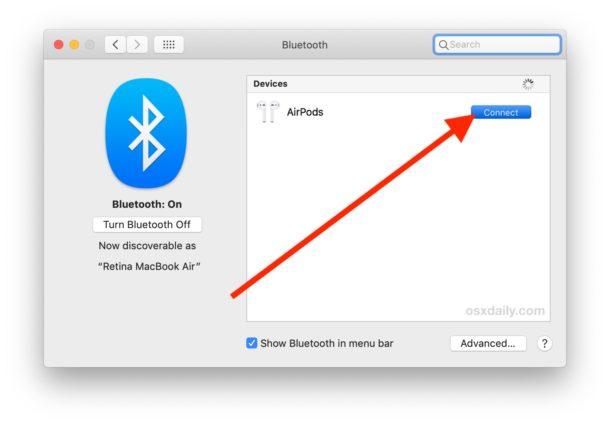 Come usare AirPods su Mac, tre diversi metodi