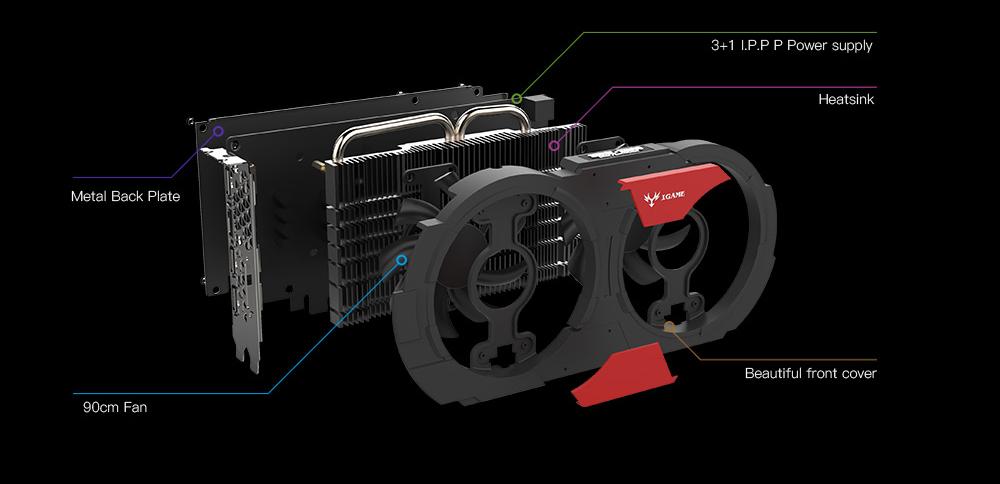 Offerta su Colorful NVIDIA GeForce GTX iGame 1050Ti GPU 4GB, adesso a soli 151 euro