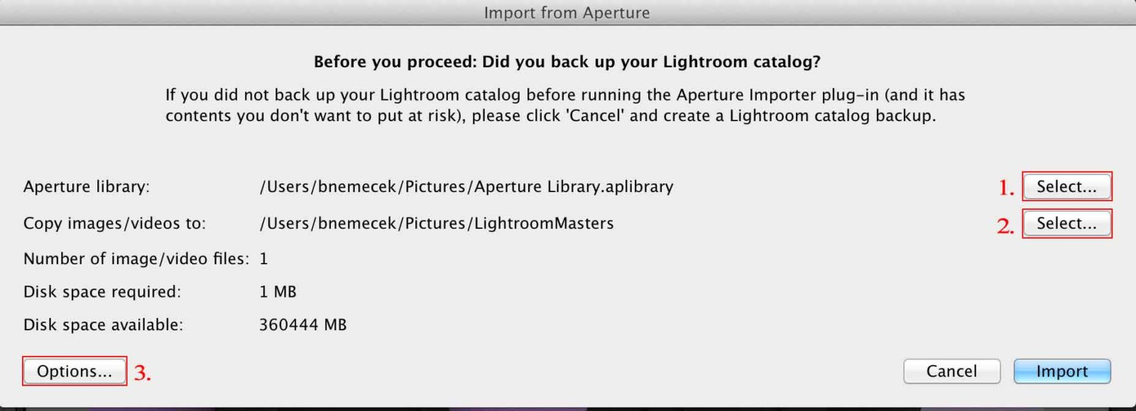 Lightroom permette di imporatre le librerie di iPhoto e Aperture