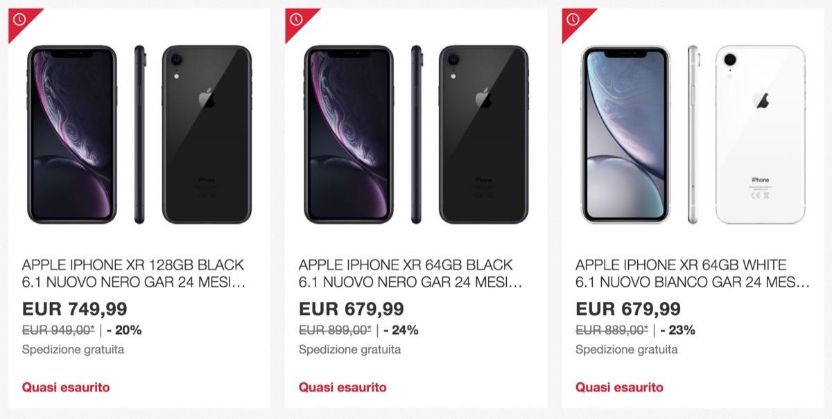 iPhone XR nuovo su Ebay quasi al 25% di sconto
