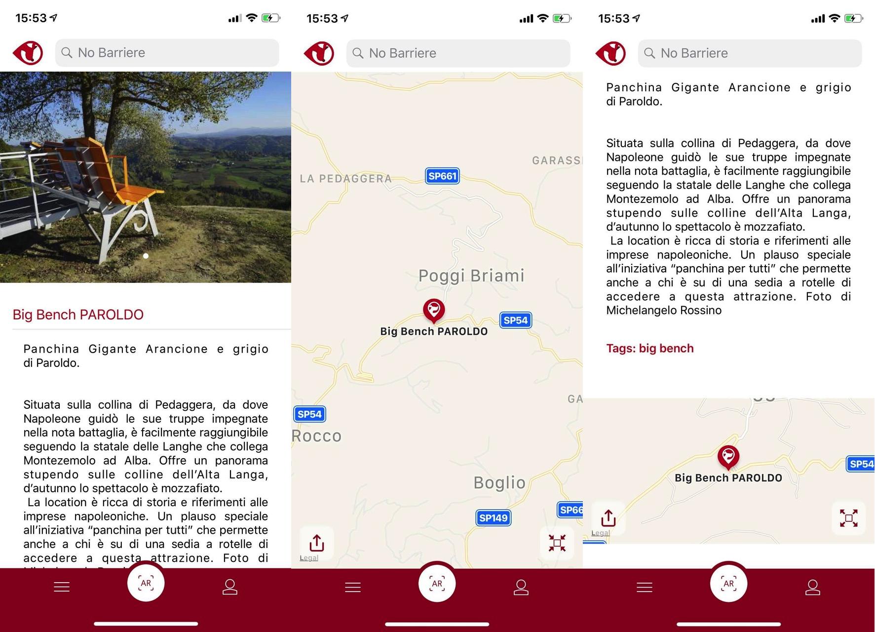 A caccia di panchine giganti con un'app, realtà aumentata e geolocalizzazione