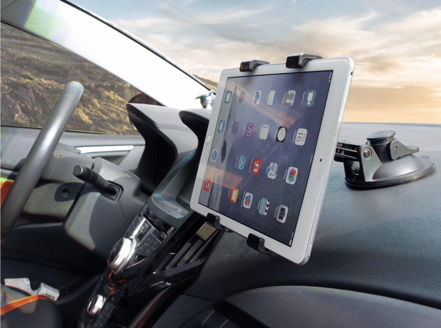 Supporto da cruscotto per iPad e Tablet per navigazione GPS, musica e servizi auto
