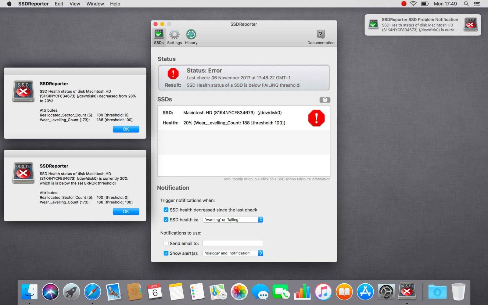 Verificare salute SSD