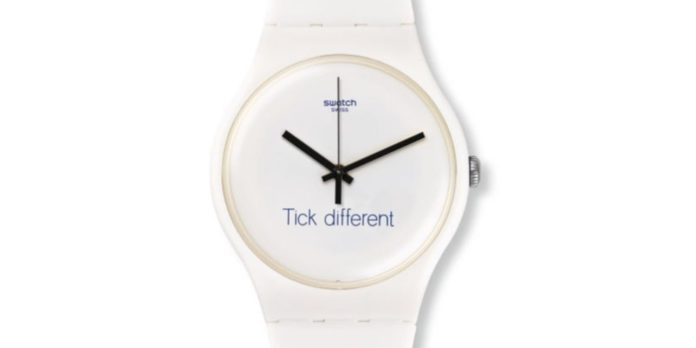 Swatch vince contro Apple sul motto Tick Different