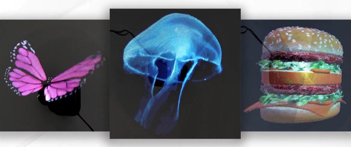 Utorch Z1, il display olografico tridimensionale