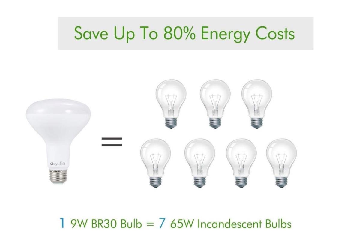 Lampadina LED da 9W, equivalente 65W: kit da quattro a soli 6,80 euro