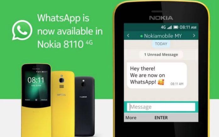 Nokia 8110, Whatsapp è arrivato sul banana phone
