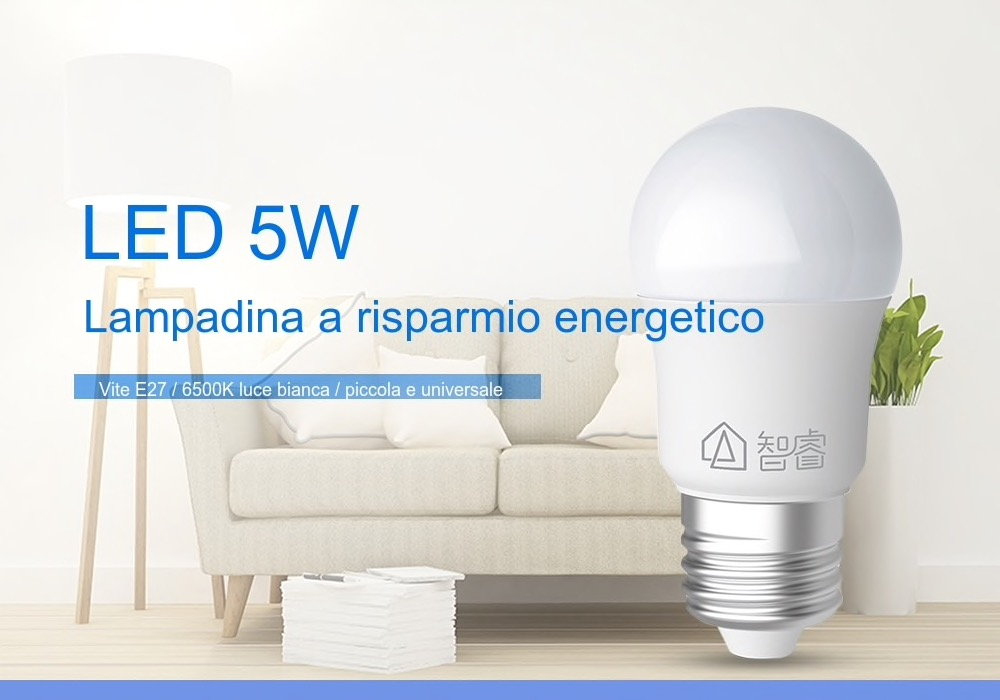 Lampadina LED E27 Xiaomi da 5W a risparmio energetico a soli 3,53 euro