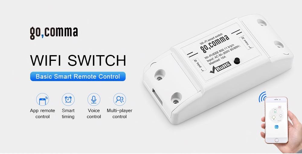 Gocomma Basic Smart, solo 4,99 euro per rendere smart i dispositivi elettrici in casa