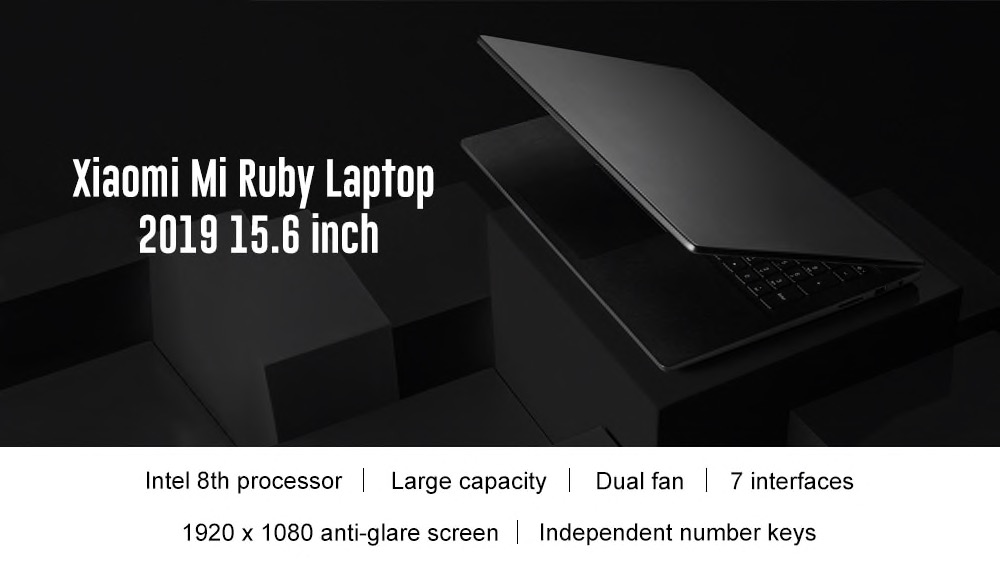 Xiaomi Mi Ruby 2019, il nuovo super notebook Xiaomi in offerta lampo