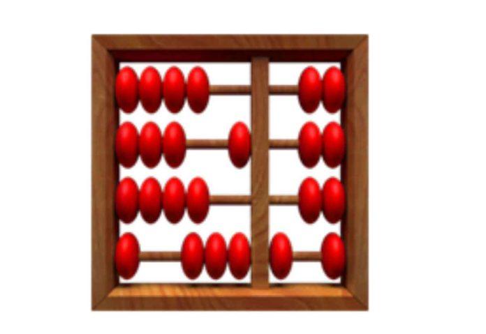 L'emoji dell'abaco usata da Apple è sbagliata