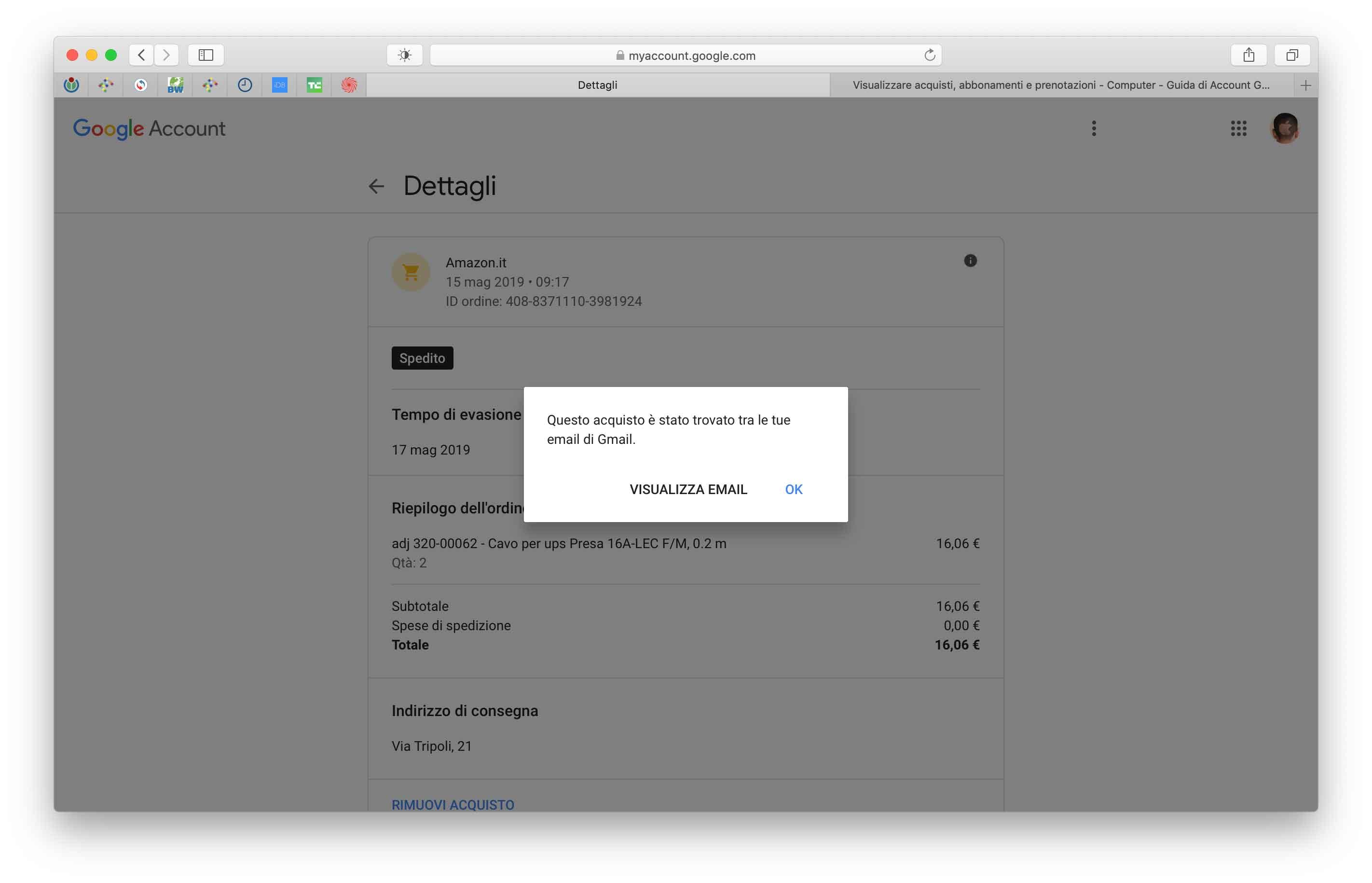 Per ogni acquisto tracciato, Google comunica in che modo è stato individuato
