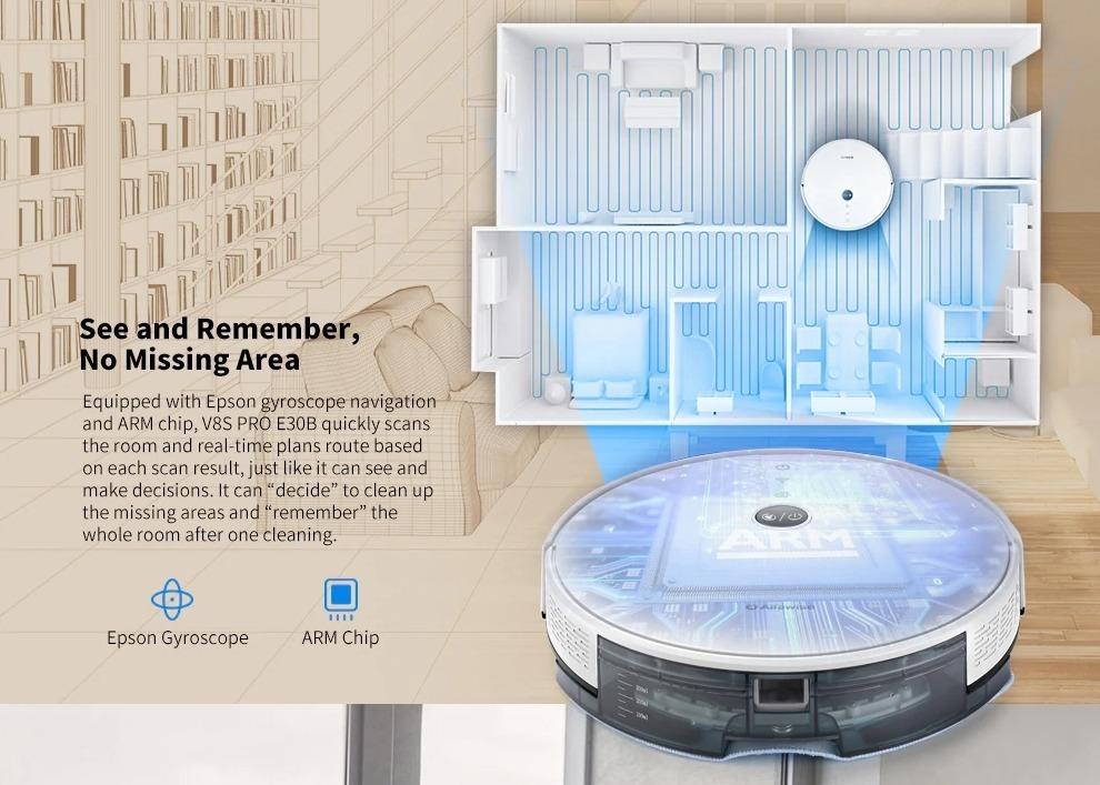 Alfawise V8S PRO, l'aspirapolvere robot low cost compatibile con Alexa e Google Home