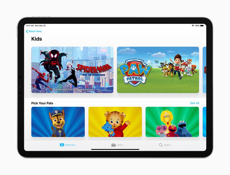 L'app Apple TV ha una nuova sezione dedicata ai più piccoli