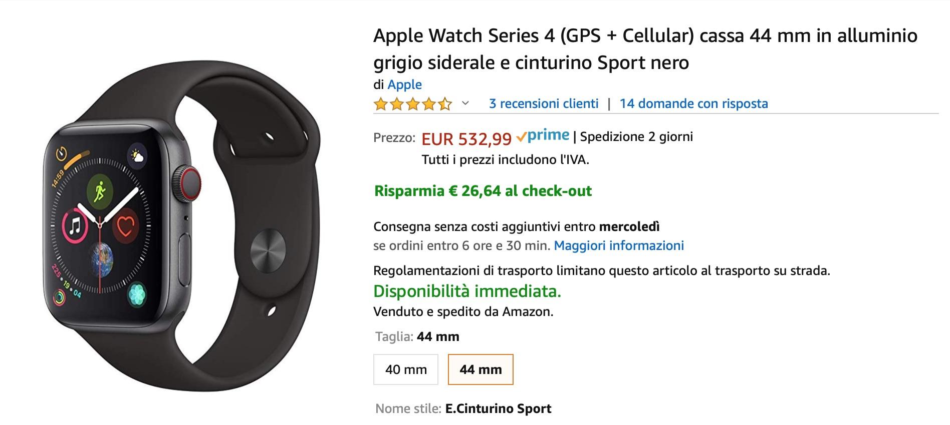 Amazon extra-sconta i prodotti Apple: