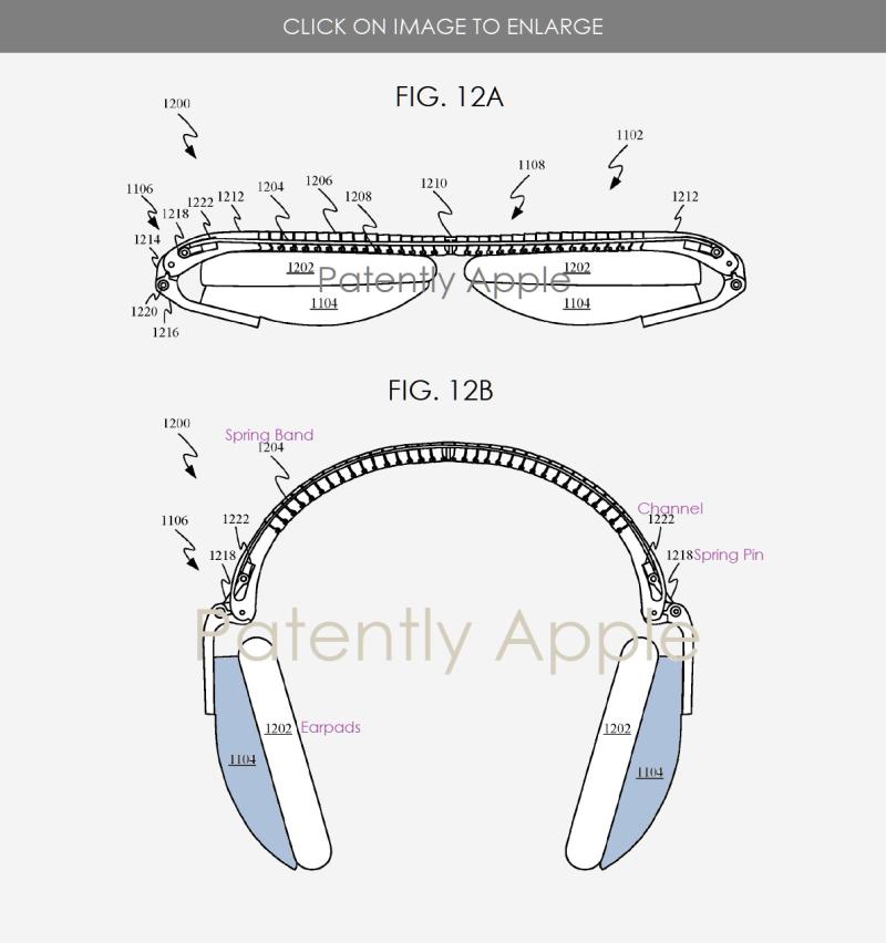 Apple studia cuffie smart completamente collassabili