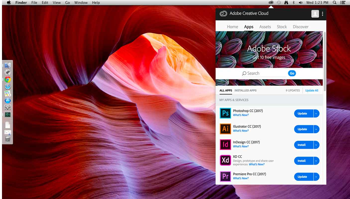 Download applicazioni della Creative Cloud