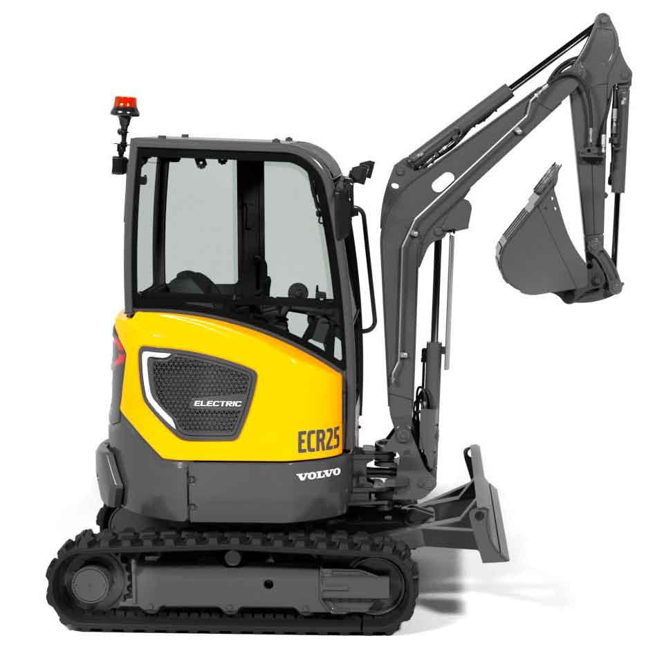 L'escavatore elettrico ECR25
