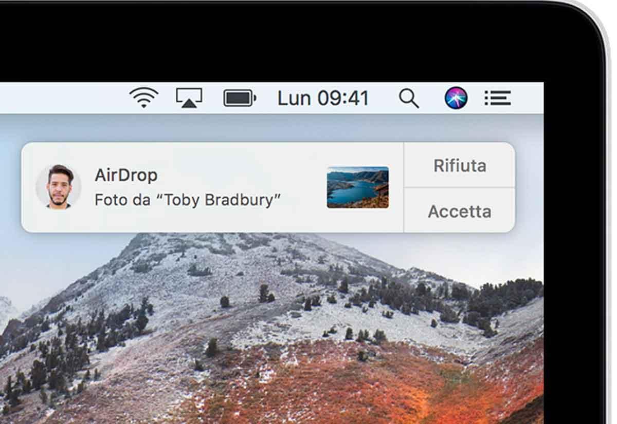 Esempio AirDrop