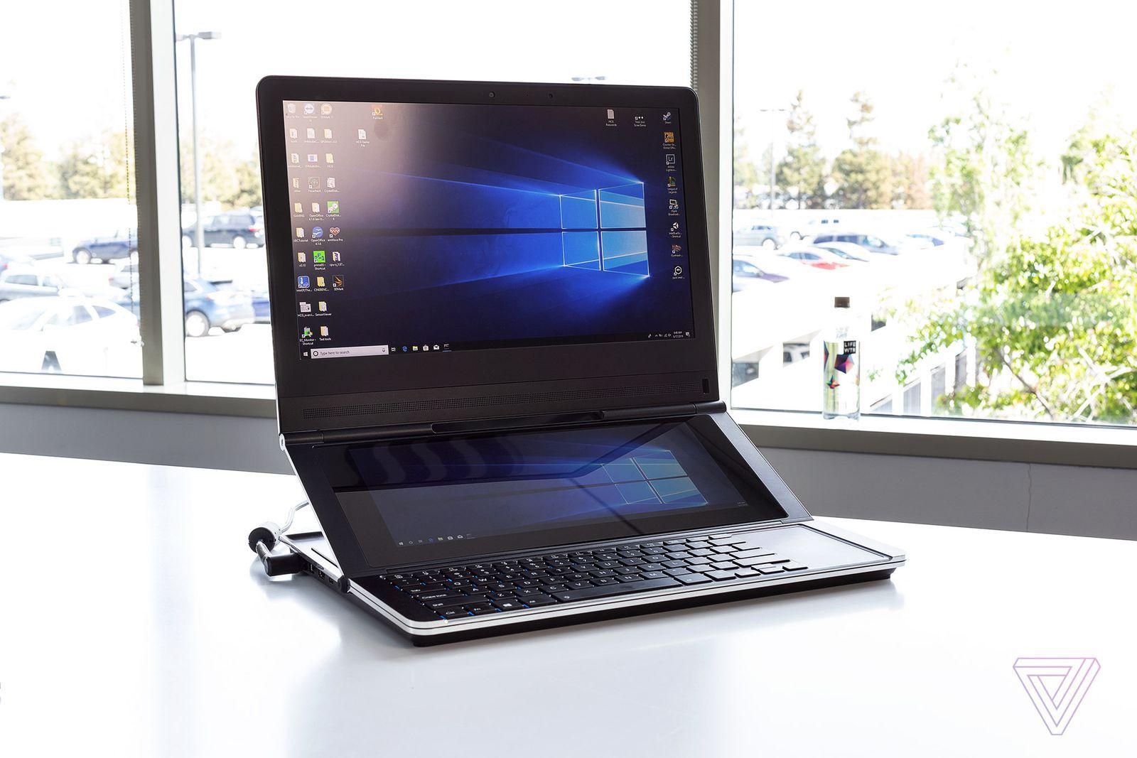 Intel sogna un notebook con display secondario richiudibile a cerniera