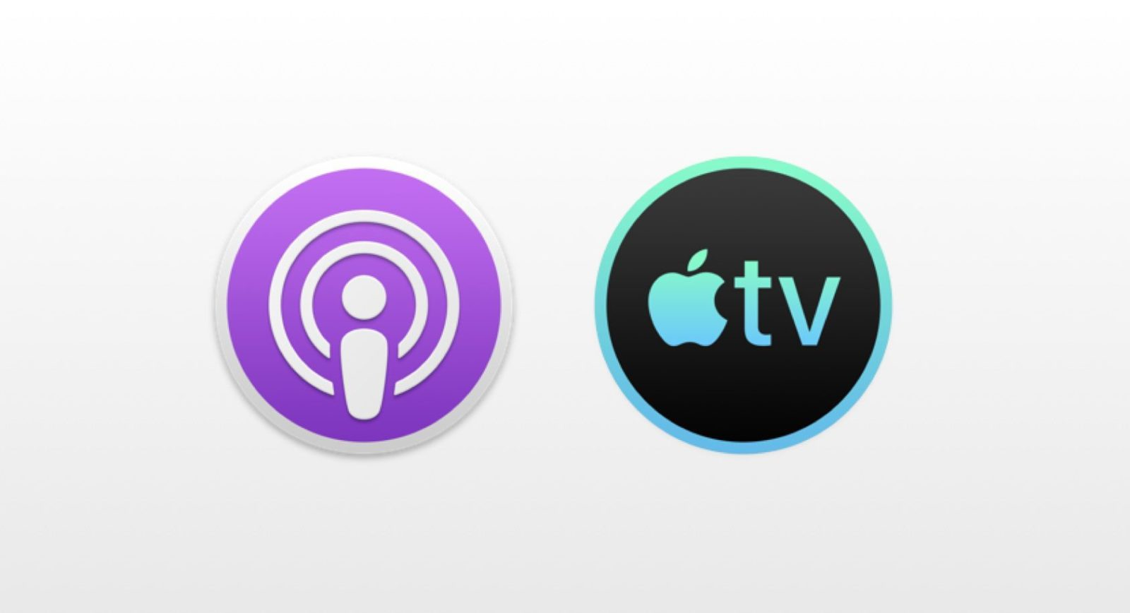 Le icone delle app Podcasts et Apple TV perr macOS