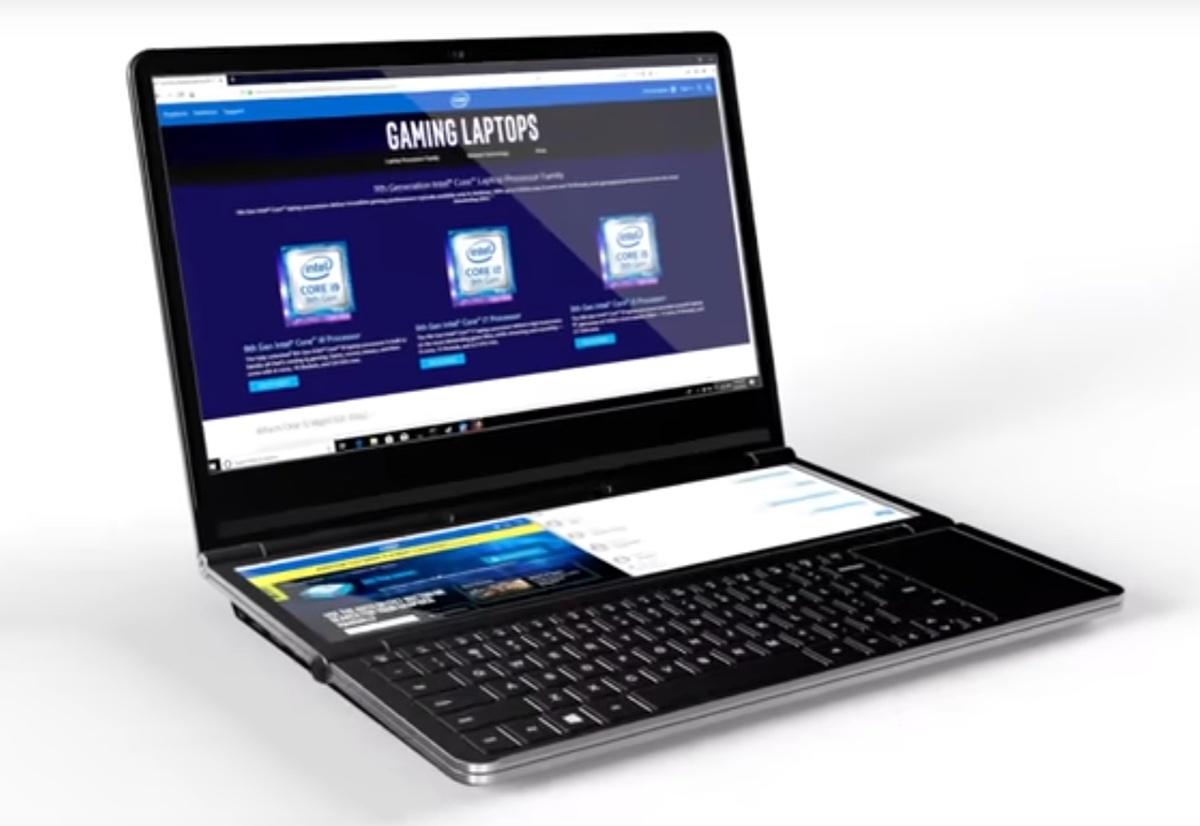 Intel sogna notebook con display secondari richiudibili a cerniera
