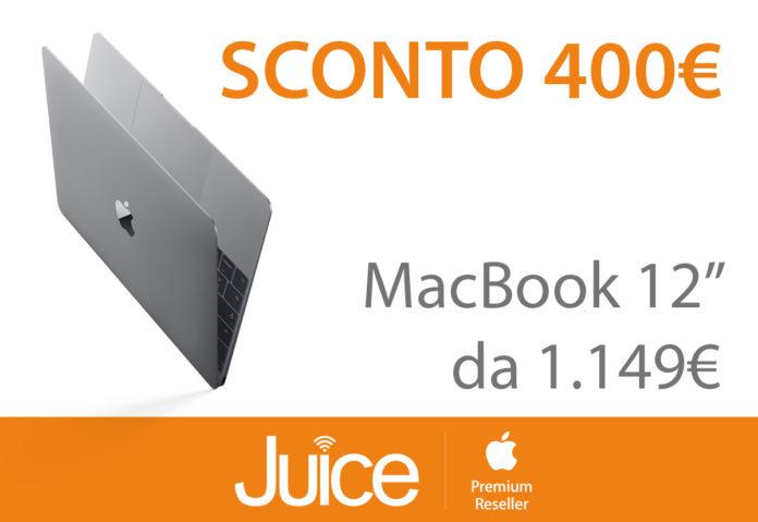 """Da Juice MacBook 12"""" costa 400 euro meno del prezzo di listino"""