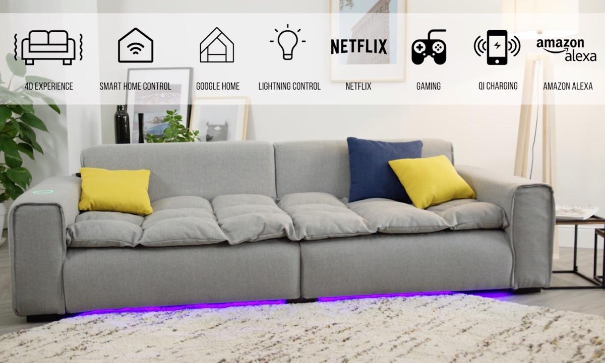 Miliboo Smart Sofa è il primo divano smart connesso che vibra e suona
