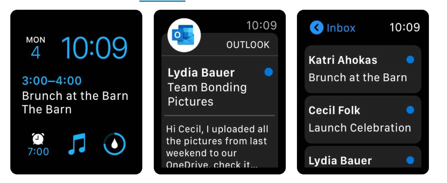 Outlook per Apple Watch