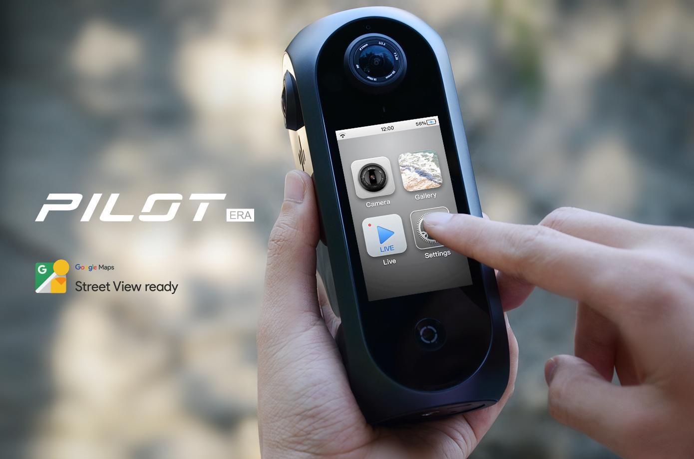 Pilot Era, la prima fotocamera al mondo per filmati 8K a 360° ora in sconto su Indiegogo