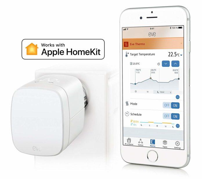 Sconto Eve Thermo, valvola termostatica smart compatibile HomeKit: solo 49,99 euro