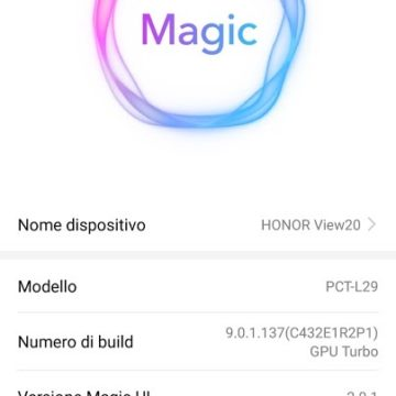 Recensione Honor View 20