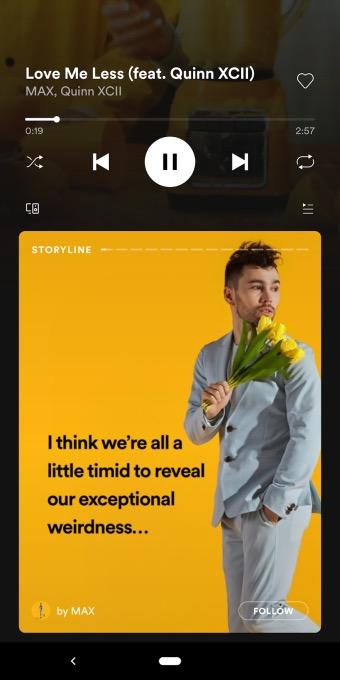 Spotify testa le sue Storie, si chiameranno Stotyline