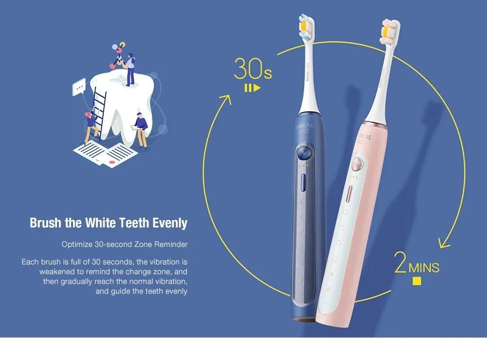 SOOCAS X5, il nuovo lo spazzolino supersonico con NFC e Bluetooth da Xiaomi Youpin